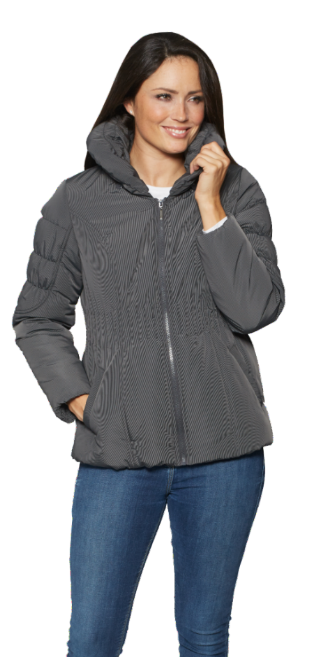 Womens Padded Hooded Jacket db326